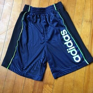 Adidas Boys 4T Blue & Green Long Shorts